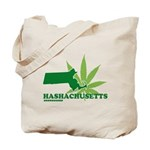 Funny Massachusetts Weed Tote Bag