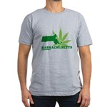 Funny Massachusetts Weed Men's Fitted T-Shirt (dar