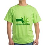 Funny Massachusetts Weed Green T-Shirt