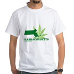 Funny Massachusetts Weed White T-Shirt