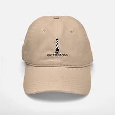 Outer Banks NC - Lighthouse Design Baseball Baseball Cap