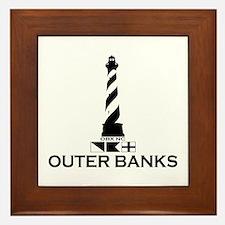 Outer Banks NC - Lighthouse Design Framed Tile