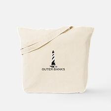 Outer Banks NC - Lighthouse Design Tote Bag