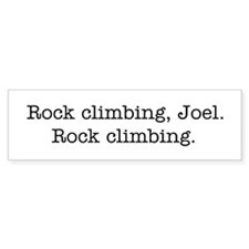 Rock climbing, Joel. Car Sticker