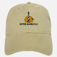 Outer Banks NC - Lighthouse Design Baseball Baseball Cap
