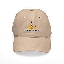 Outer Banks NC - Lighthouse Design Baseball Cap