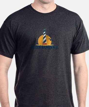 Outer Banks NC - Lighthouse Design T-Shirt
