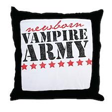 Newborn Vampire Army Throw Pillow