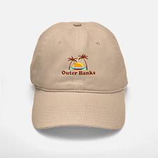 Outer Banks NC - Palm Trees Design Baseball Baseball Cap