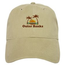Outer Banks NC - Palm Trees Design Cap
