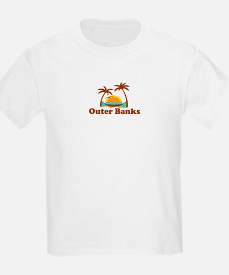 Outer Banks NC - Palm Trees Design T-Shirt
