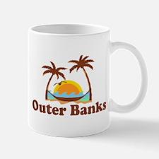 Outer Banks NC - Palm Trees Design Mug