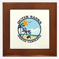 Beaufort NC - Sand Dollar Design Framed Tile