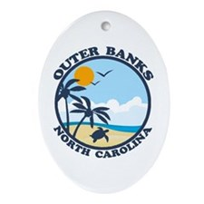 Beaufort NC - Sand Dollar Design Ornament (Oval)