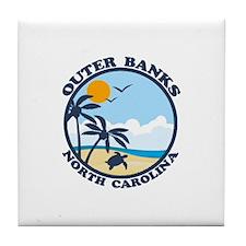 Beaufort NC - Sand Dollar Design Tile Coaster