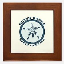 Outer Banks NC - Sand Dollar Design Framed Tile