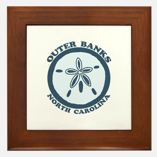 Outer Banks NC - Sand Dollar Design Framed Tile