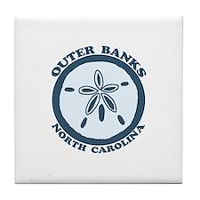 Outer Banks NC - Sand Dollar Design Tile Coaster