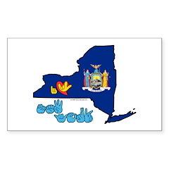 ILY New York Sticker (Rectangle 10 pk)