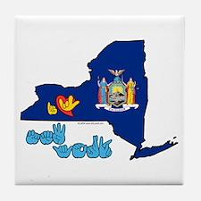 ILY New York Tile Coaster