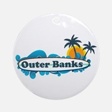 Outer Banks NC - Surf Design Ornament (Round)
