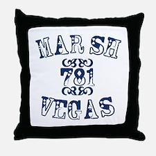 Marsh Vegas Throw Pillow