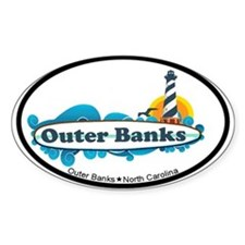 Outer Banks NC - Surf Design Stickers