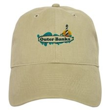 Outer Banks NC - Surf Design Baseball Cap