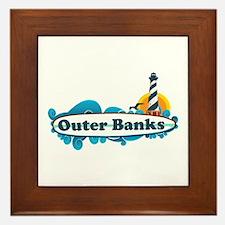 Outer Banks NC - Surf Design Framed Tile
