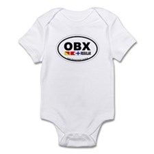 Outer Banks NC - Oval Design Infant Bodysuit