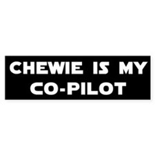 Chewie CoPilot Bumper Bumper Sticker