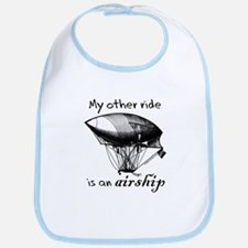 Other ride is an airship steampunk Bib