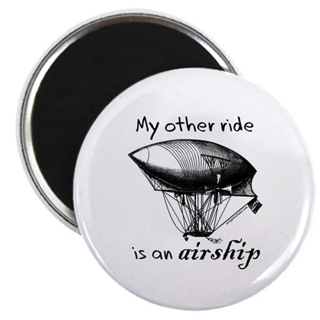 Other ride is an airship steampunk Magnet