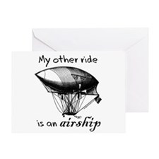 Other ride is an airship steampunk Greeting Card