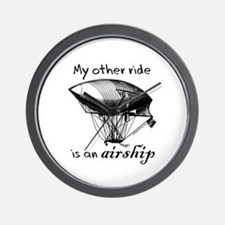 Other ride is an airship steampunk Wall Clock