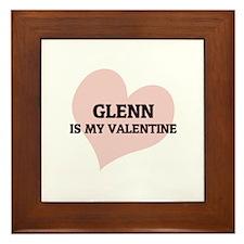 Glenn Is My Valentine Framed Tile