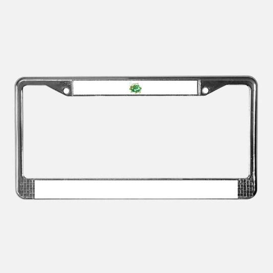 retro Brasil License Plate Frame