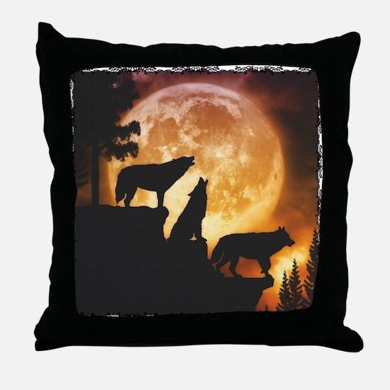 Wolves Peak Throw Pillow