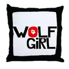 Wolf Girl - Throw Pillow