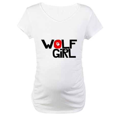 Wolf Girl - Maternity T-Shirt