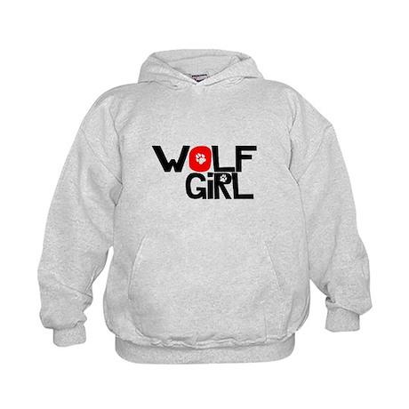 Wolf Girl - Kids Hoodie