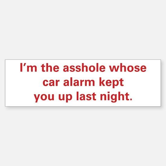 Car Alarm Revenge Sticker (Bumper)