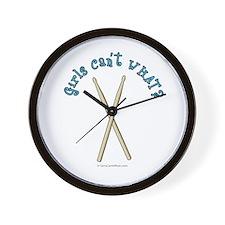 Drum Sticks Wall Clock