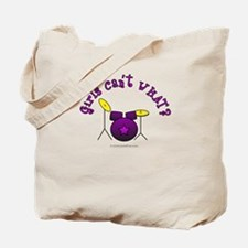 Purple Drum Set Tote Bag