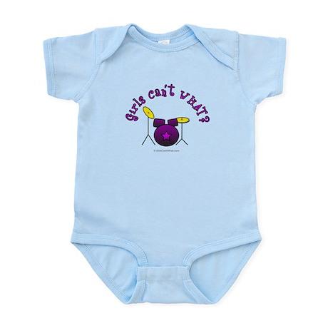 Purple Drum Set Infant Bodysuit