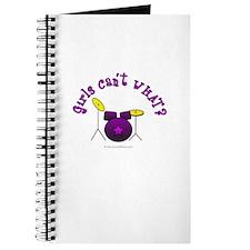 Purple Drum Set Journal