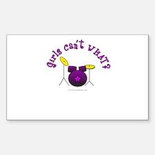 Purple Drum Set Decal