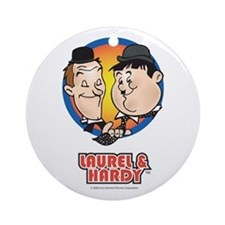 Cute Laurel and hardy Ornament (Round)