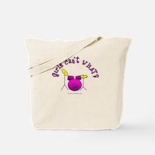 Pink Drum Set Tote Bag