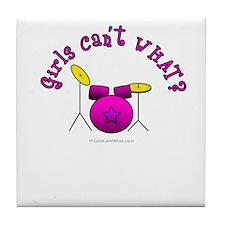 Pink Drum Set Tile Coaster